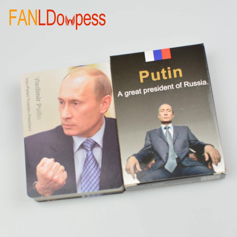 все цены на 54pcs Collection Playing Card Poker President of the Russian Vladimir Putin Poker set Celebrity Cards Deck Novelty Present Poker онлайн