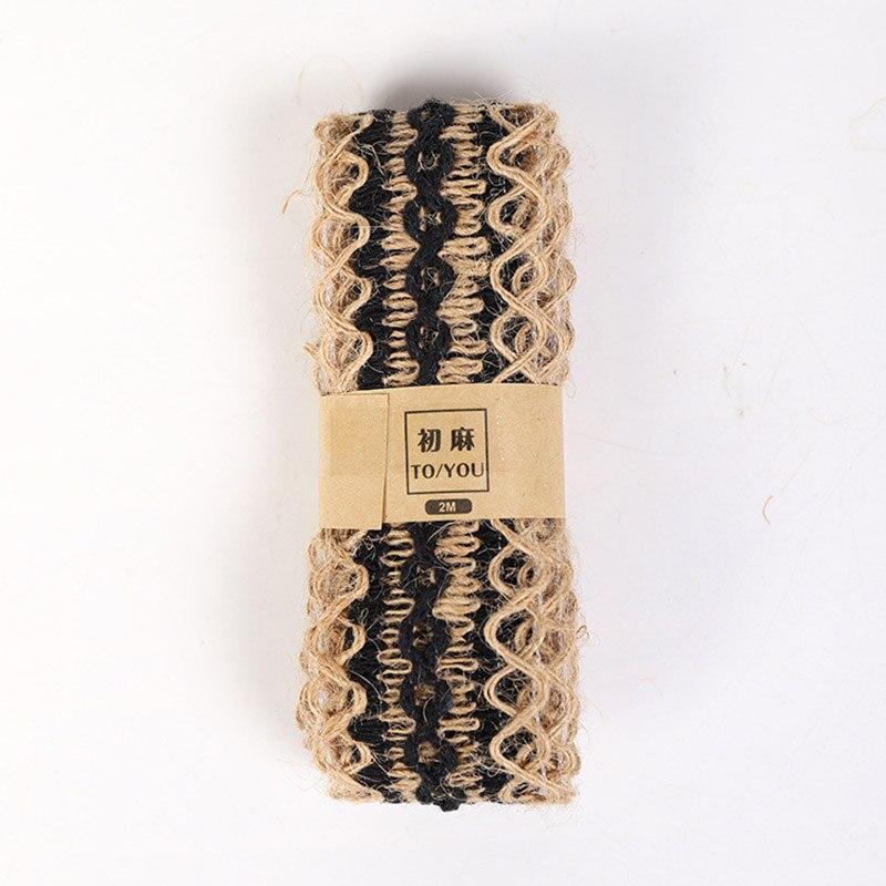 2 м/рулон, натуральные вечерние свадебные ленты, подарок, пеньковая лента, джутовая Мешковина, сделай сам, праздничные принадлежности, праздничные украшения - Цвет: L