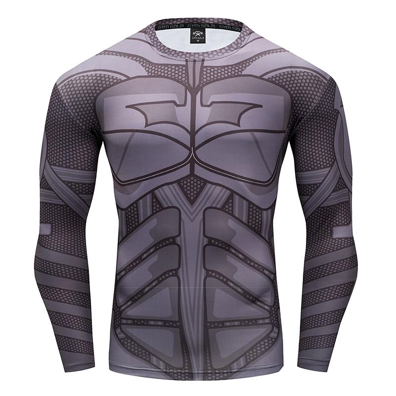 Men's T-shirt Gyms work out Fitness leisure men's clothing 3D Superhero Batman Fitness T-shirt Summer stretch fitness tops S-4XL