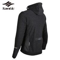 Santic зимняя велосипедная куртка для мужчин Спорт на открытом воздухе ветрозащитные пальто хлопок утепленная одежда 3D слой навык горный вело
