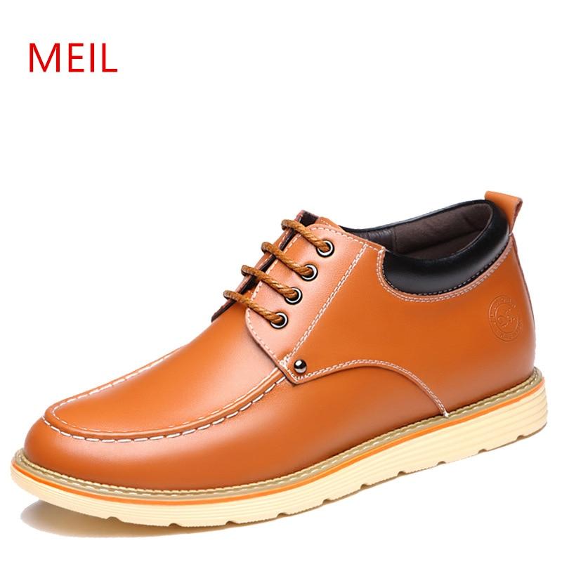 Marque hauteur augmentant 5 cm homme chaussures en cuir véritable hommes chaussures décontractées mâle Invisible ascenseur chaussures homme confortable Oxfords