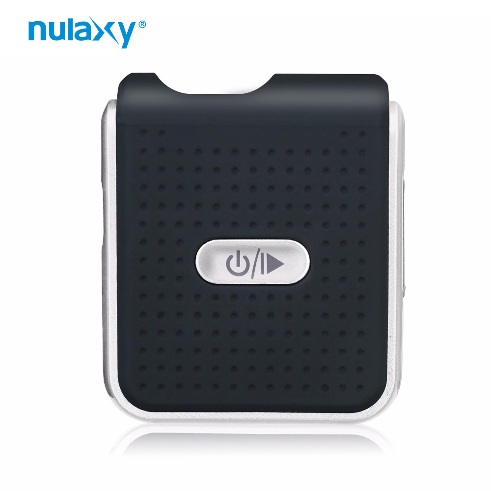 Nulaxy Bluetooth Receiver Portable Stereo Hands-free Audio Adapter Bluetooth Car Kit Collar Clip for 3.5mm Audio Device