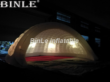 цена Wonderful outdoor waterproof inflatable half dome tent inflatable air dome tent structure luna tent with LED ligting в интернет-магазинах