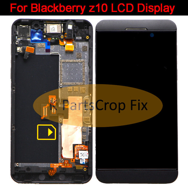 8590c51dfb7 Black For Blackberry Z10 4G Version 3g version LCD Display Touch Screen  with Digitizer Assembly + Bezel Frame Free shipping