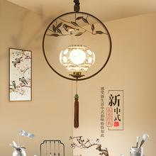 Chinese bird chandelier creative individual cage lamp dining room lighting antique tea house bar