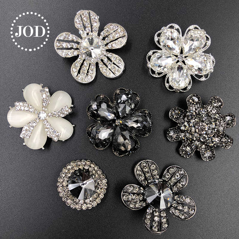 0b94ba7ab0be JOD * botones de diamantes de imitación de Metal para ropa botón decorativo  diamante para ropa cristal mujeres costura aplicaciones DIY negro