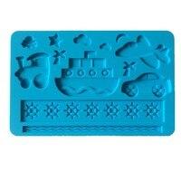 Nueva llegada transporte (coche, camión, avión, barco) cake molde de la galleta, chocolate de silicona fondant molde, hecho a mano herramienta de hornear B078