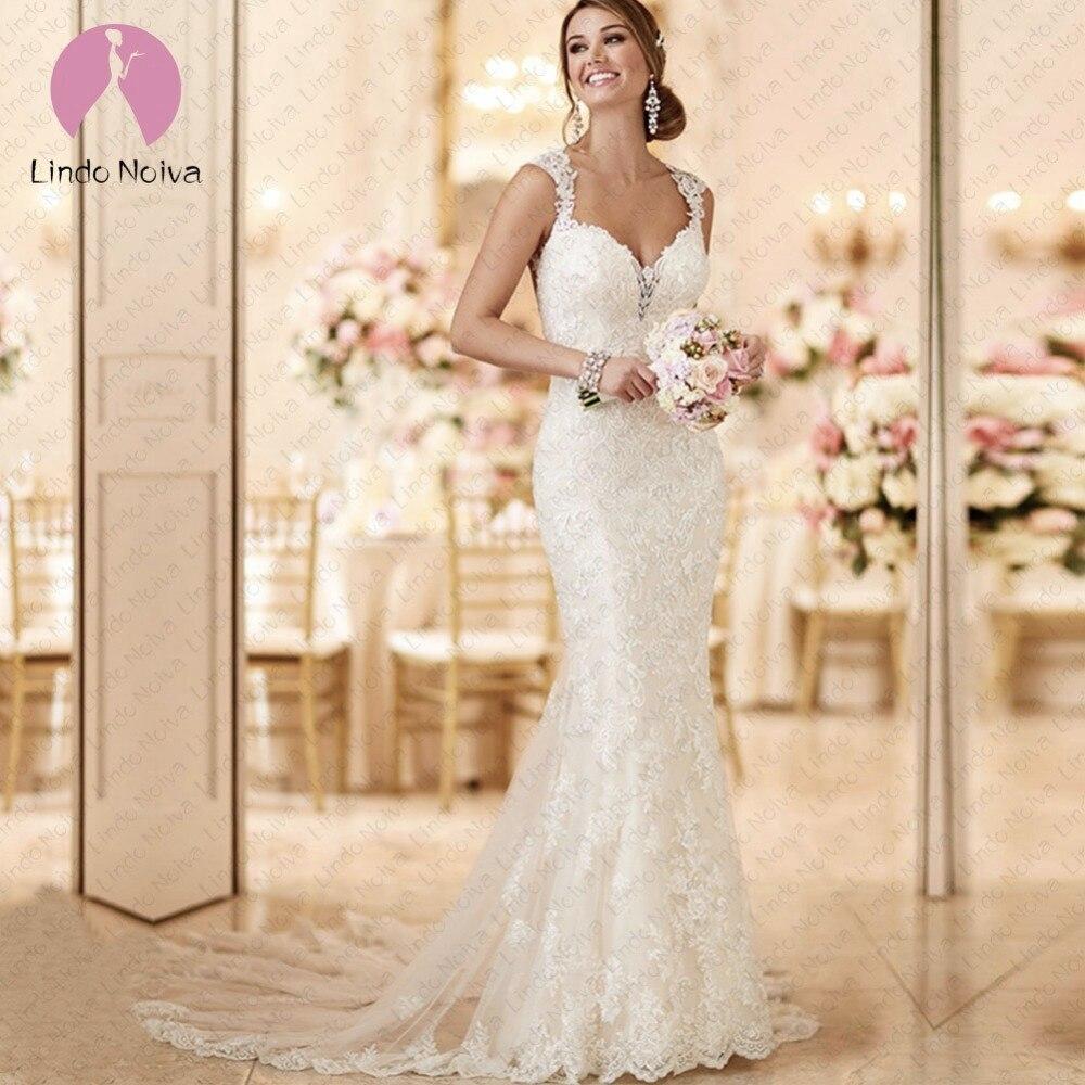 Elegant Sexy Lace Wedding Dress 2019 Open Back Vintage Bridal Dress Robe De Mariage Mermaid Wedding Dresses Vestidos De Noiva