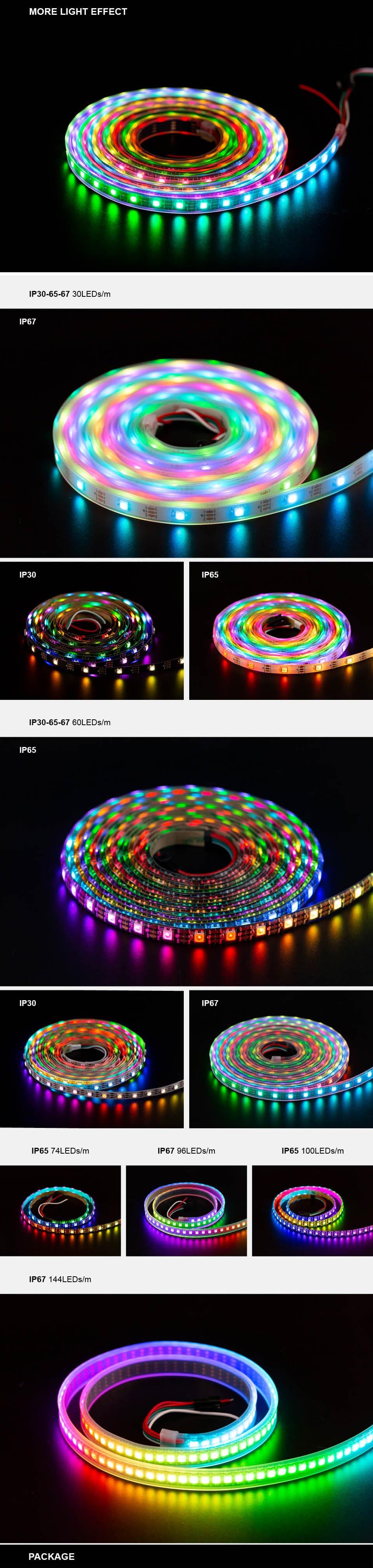 HTB1.1aOXErrK1RkSne1q6ArVVXaK 1m/2m/4m/5m WS2812B Led Strip 30/60/74/96/100/144 pixels/leds/m WS2812 Smart RGB Led Light Strip Black/White PCB IP30/65/67 DC5V