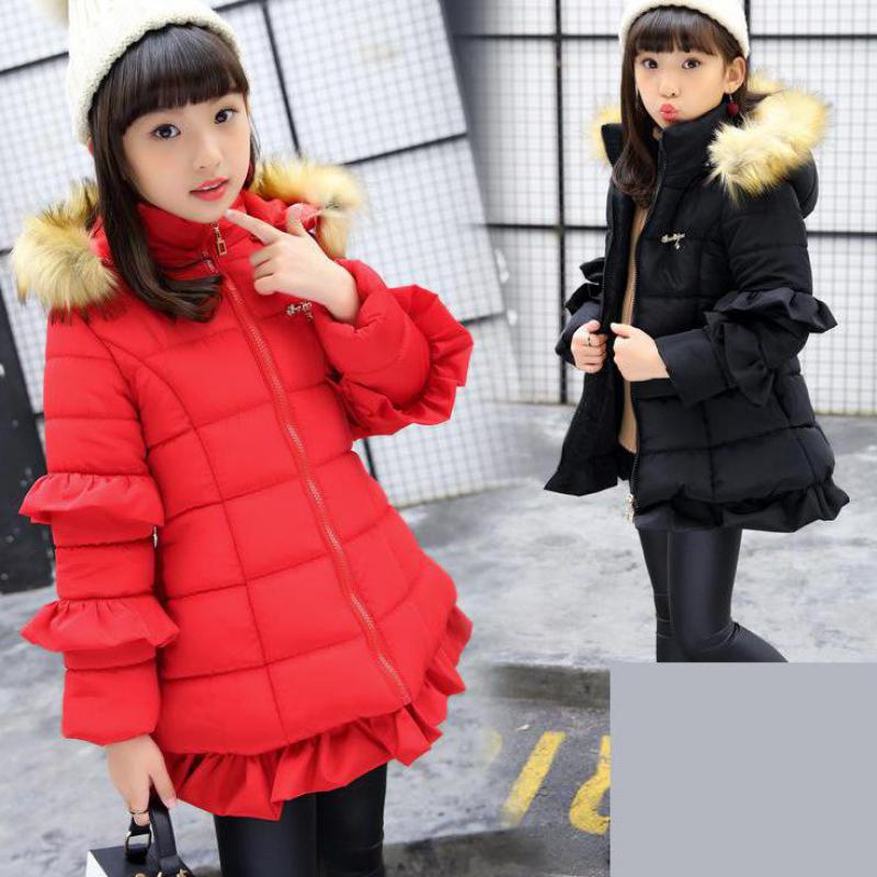 2018 Winter Russia Children Long Cotton Christmas Down & Parkas Girls Down Jackets Coats Baby Outwear Winterjas Meisjes Snowsuit2018 Winter Russia Children Long Cotton Christmas Down & Parkas Girls Down Jackets Coats Baby Outwear Winterjas Meisjes Snowsuit