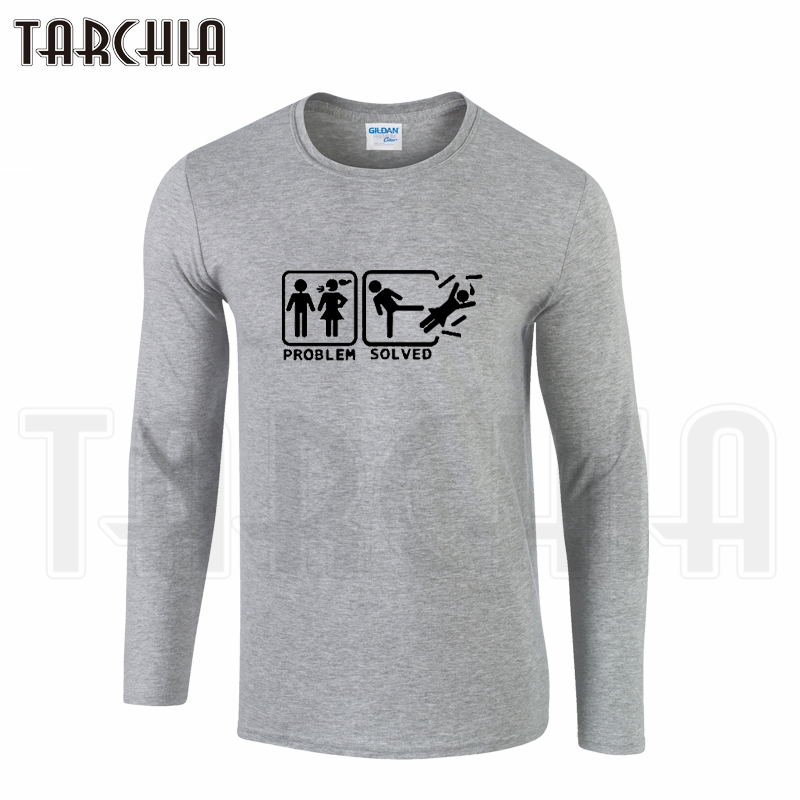 TARCHIA Free Shipping Big Sale Hot Selling Men's Long Sleeve Homme Comfortable Fahion Funny Cool T-Shirt Cotton tee Plus Size