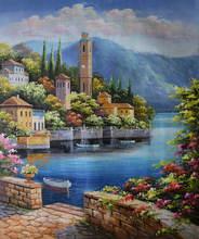 Ручная роспись европейский стиль картина маслом на холсте Средиземное