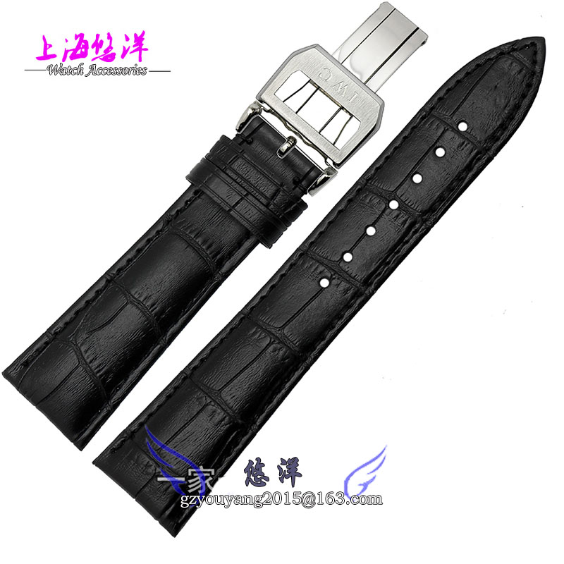 Watch band 20mm 21mm 22mm Brown Genuine Leather Strap Deployment Steel Buckle Wrist Band Bracelets