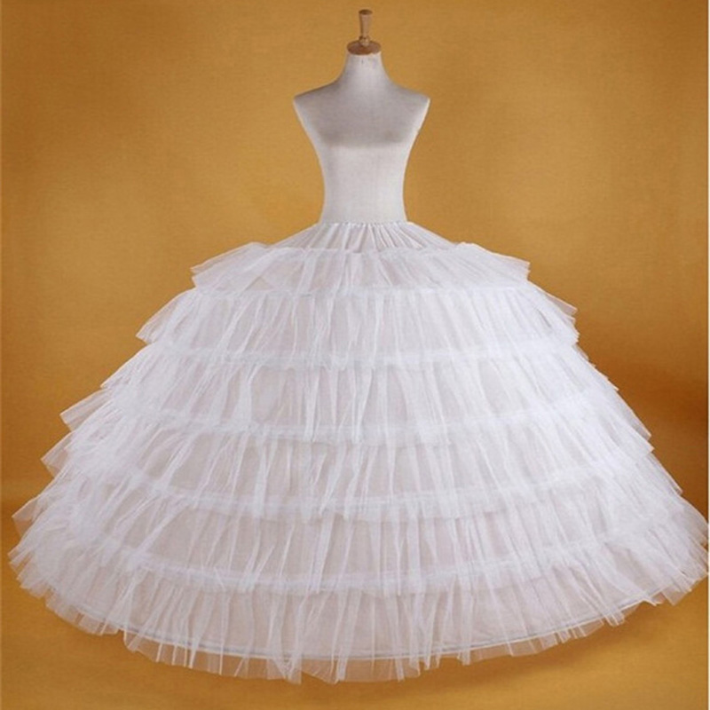 JIERUIZE 7 Hoops Super Puffy Petticoat Ball Gown Crinoline Slip Underskirt For Wedding Dress Wedding Accessories