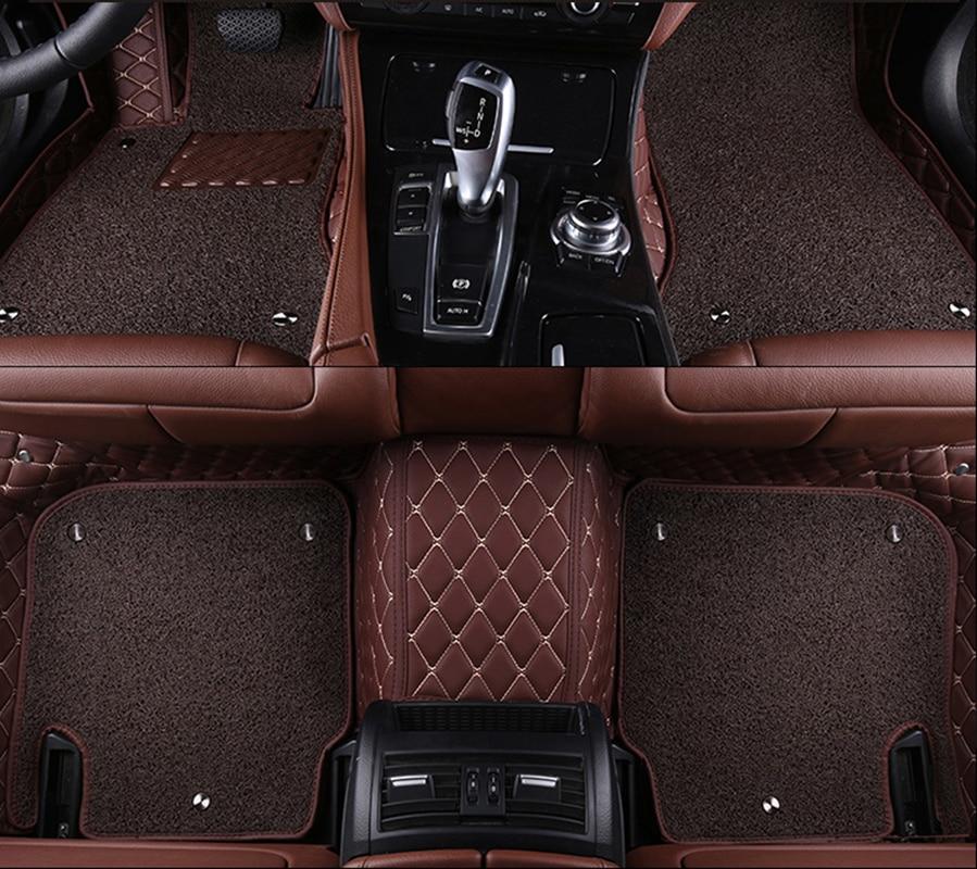 kalaisike Custom car floor mats for Hyundai All Models iX25 i30 iX35 terracan accent azera lantra