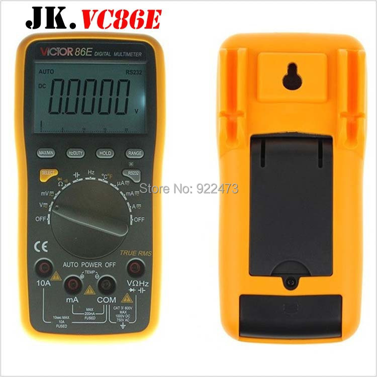 P166 VICTOR VC86E High Precision Frequency Capacitance Temperature with USB Universal Meter Digital Multimeter