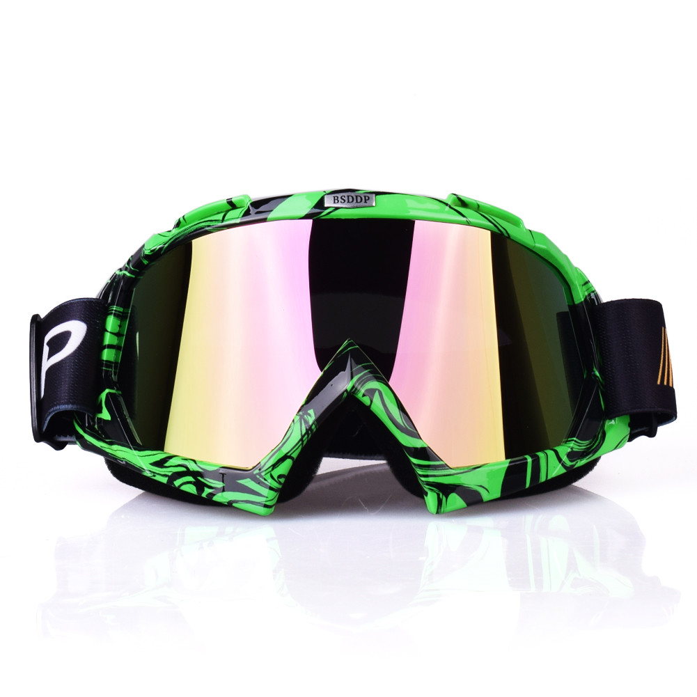 Green / Orange Motocross Goggles Cross Country Skis Snowboard Atv Mask Oculos Gafas Motorcycle Helmet 1003 Mx Goggles Glasses