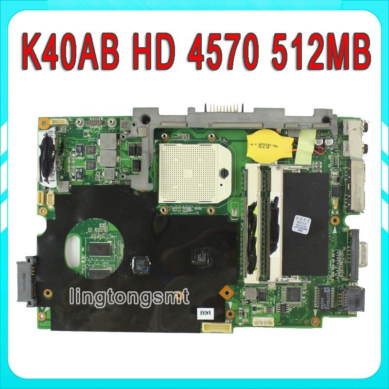 Original for ASUS K40AB Mainboard K40AF K50AD K50AB K50AF X8AAF X5DAF Motherboard HD 4570 512MB VRAM DDR2 tested good спрей van daf супер спайс 50 мл