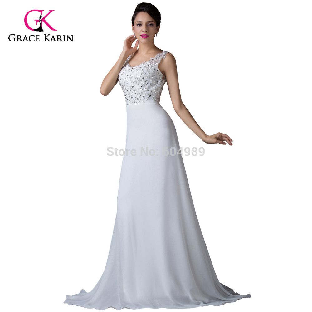 Luxury Floor Length White Sexy Backless Formal Evening ...