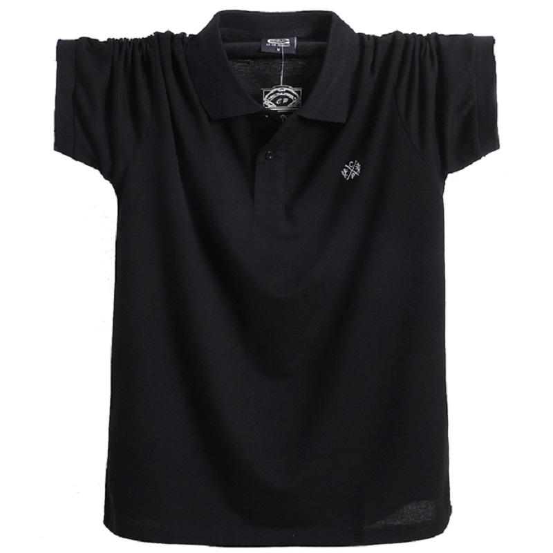 Plus Size 6X Men's   Polo   Shirt 95% Cotton Loose Smart Casual Shirt Letters Solid Color Short Sleeve   Polos  ;YA239