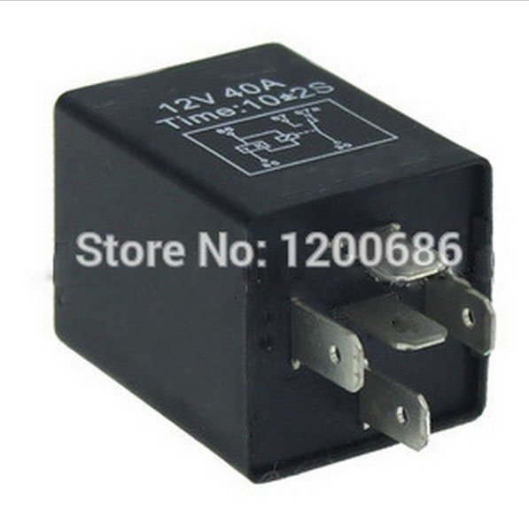 Free Ship Automotive 12V 5 Pin Time Delay Relay SPDT 10 second delay