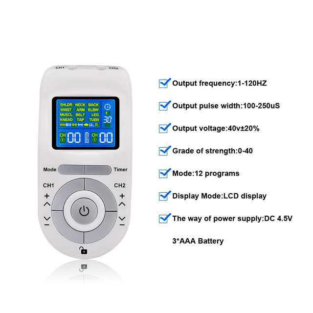 Tens Machine Massager EMS Electronic Pulse Massager Electrical Nerve Muscle Stimulator Acupuncture Low Frequency Physiotherapy 4