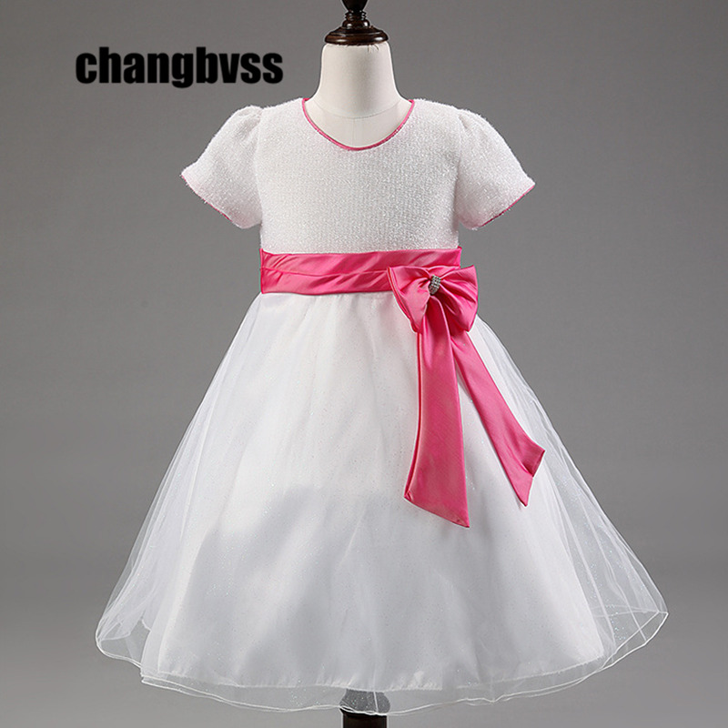 New Cheap Princess Dress for Girls Baby Kids Clothes for Wedding Party Infant Summer Clothing Birthday Tutu Dresses for Girl  summer baby girls party vest dress linen cotton ruffle tutu dress for girl kids 1st birthday princess dresses children clothing