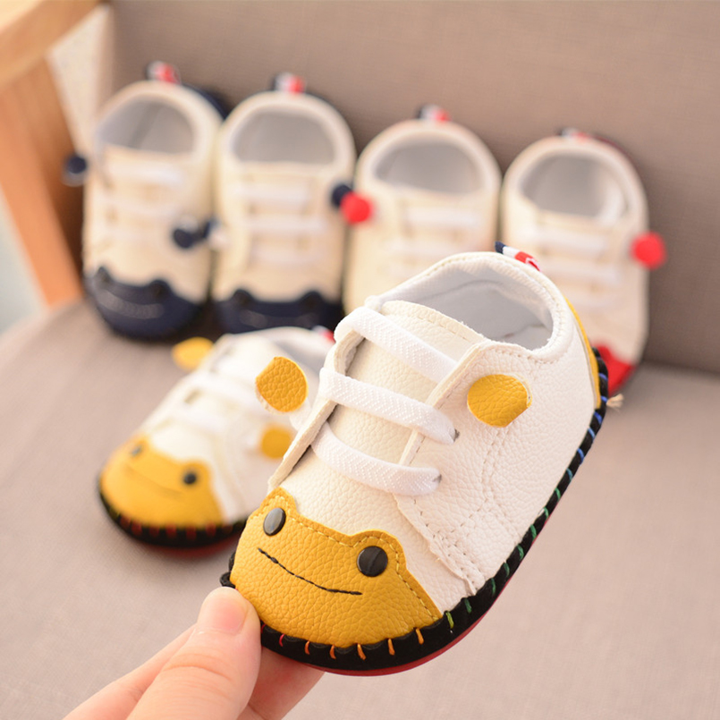 e0f49a7a Baby Shoes 2018 Autumn Cartoon Frog Sewing Boys First Walkers Toddler Girl  Casual Sneakers Kids Prewalker | Emma Grace