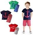 Conjunto de Roupas de bebê Menino de Verão Crianças Meninas Ternos Do Esporte Crianças Conjuntos de Roupas infantis Para Crianças de Algodão T-Shirt + calça Fantasias Infantil