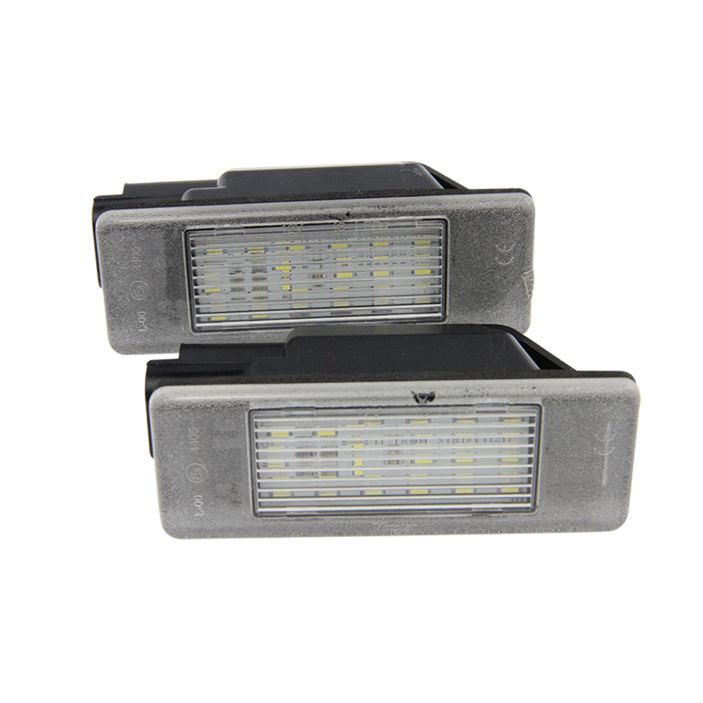2x 18 3528 SMD LED License Number Plate Light Lamps Car Light Source fit Citroen Berlingo C2 C3 Pluriel C4 C5 C6 for Peugeot led smd license plate light for citroen c2 3d c3 5d c4 3d c4 5d c5 4d c5 5d c6 4d c8 4d ds3 3d