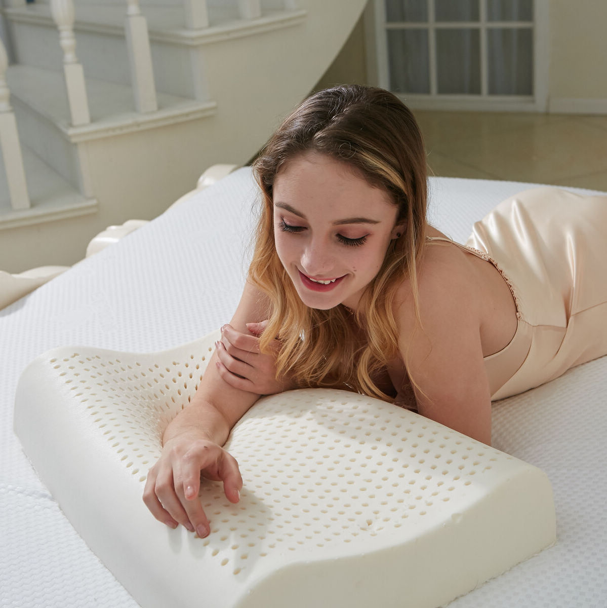 Bedding Pillow Memory font b Physical b font Therapy Massage The Snoring Bed Pillows Travel Memory