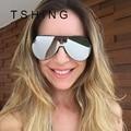 TSHING 2017 New Oversized Aviation Sunglasses Vintage Women Big Metal Frame Glasses For Female Eyewear Oculos UV400