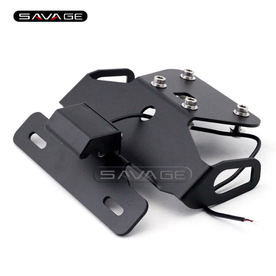 For KAWASAKI Z250 Z300 NINJA 250R/300R EX250 Motorcycle Tail Tidy Fender Eliminator Registration License Plate Holder LED Light motorcycle tail tidy fender eliminator registration license plate holder led light for kawasaki ninja 1000 ninja1000 2011 2015
