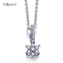 Cute Flower Crystal Pendant for girl Pretty small Necklace Jewelry Suspension Beautiful Pendants for Young girls pretty girls