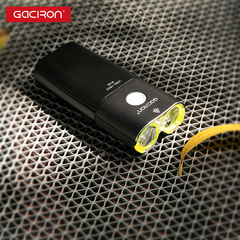 GACIRON profesional 1600 lúmenes de bicicleta banco de potencia de luz impermeable USB recargable luz de la bici de linterna - 4