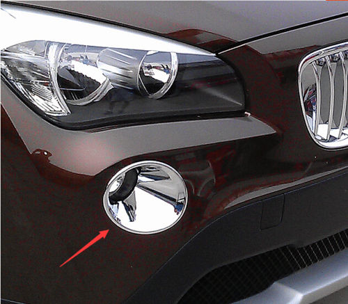 CHROME avant antibrouillard couvercle moulure de garnissage garniture lampe FIT pour BMW X1 E84 2009 2010 2011 2012 image