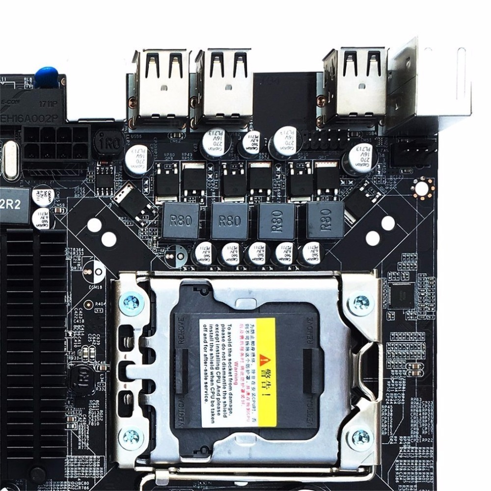 2017 NEW Desktop Motherboard Computer Mainboard For X58 LGA 1366 DDR3 16GB Support ECC RAM Wholesale
