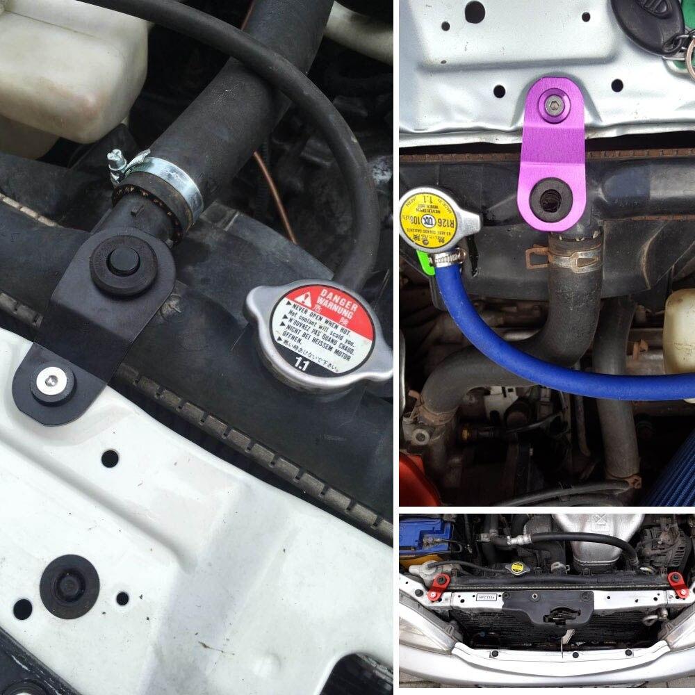 Dynoracing radiador automotivo de alumínio, suporte para ficar em carro, para honda civic ek 96-00-5