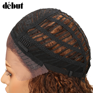 Image 4 - Debut Lace Front Human Hair Wigs Kinky Curly Wig Human Hair Short Bob Wigs For Black Women Wet And Wavy Curly Wigs Free Shipping