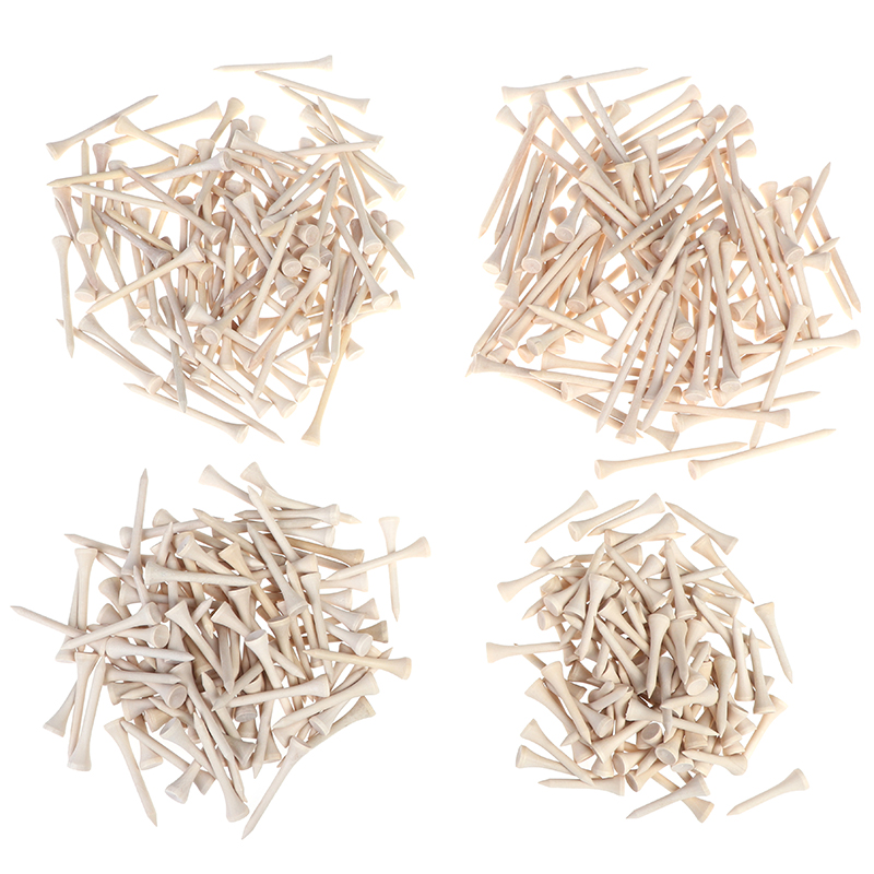 100pcs/pack Tees Golf Tees 4.2cm/5.4cm/7.0m/8.3cm Wooden Golf Tees High Quality  Golf Wood Tees
