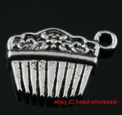 OMH wholesale Free Shipping 25pcs tibet silver comb charm pendants 18x12mm DZ263