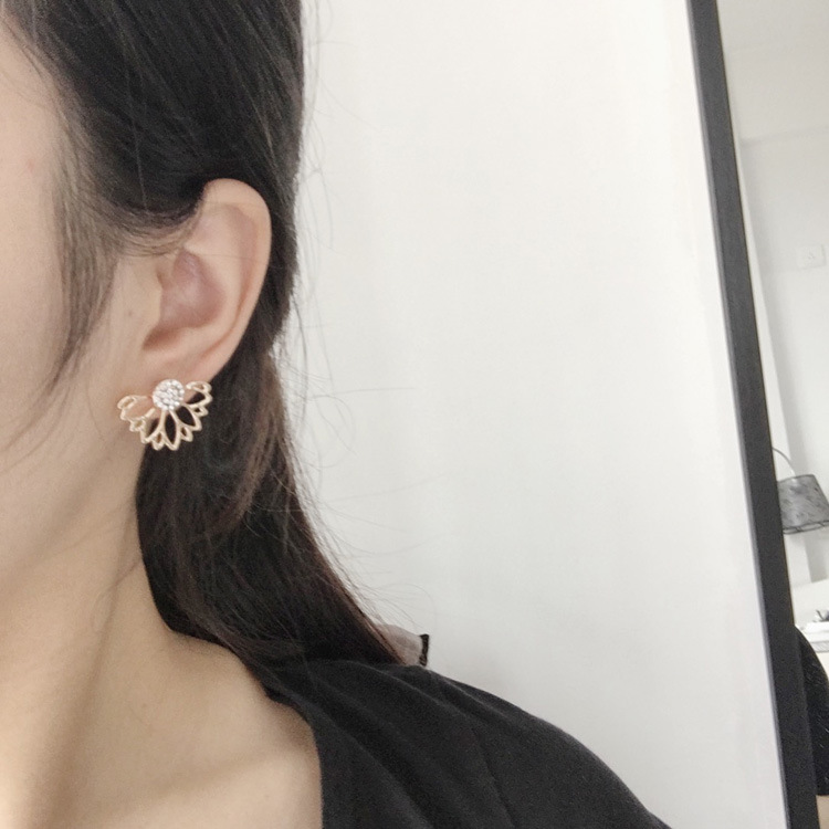 Fashion Jewelry Earrings Accessories Cute Cherry Blossoms Flower Stud Earrings For Women Several Peach Blossoms Earrings