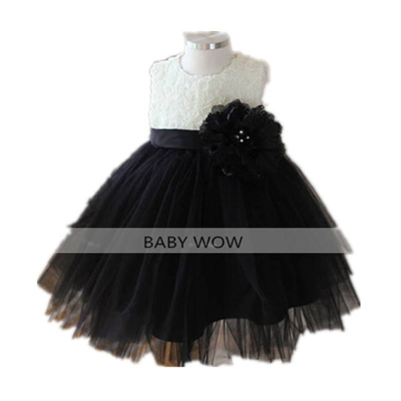 BBWOWLIN Black Cocktail Dresses Baby Girl Christmas Dress for 1 Year Birthday First Communion Dresses for 0-10 Years Kids  80188 baby wow baby clothes girl dresses for 1 year birthday christmas first communion dresses for toddler clothes 80187