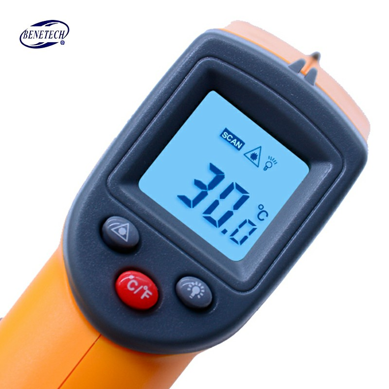 GS320 Infrared thermometer Digital Laser LCD Display Non-Contact IR Infrared Thermometer -50-360 Degree Auto Temperature Meter 1pc colorful lcd display infrared thermometer non contact digital ir laser thermometer 30 300degree for bside btm21a