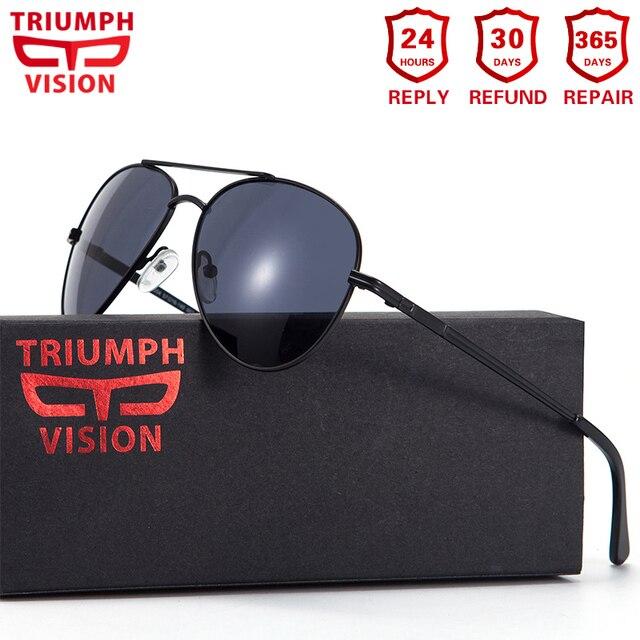 TRIUMPH VISION Prescription Glasses Men Pilot Optical Glasses Prescription Sunglasses Myopia Oculos Homme Gafas Brillen