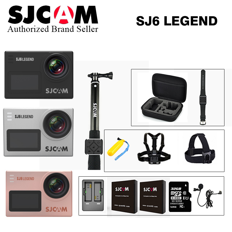Original SJCAM SJ6 LEGEND Ultra HD 4K 24fps Notavek 96660 Waterproof wifi Action Camera 2 Touch Screen Remote helmet Sports DV in stock sjcam legend sj6 wifi notavek 96660 4k 24fps ultra hd waterproof camera action cam 2 0 touch screen remote sport dv