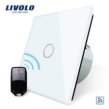 Livolo ЕС Стандартный удаленного коммутатора, 220 ~ 250 В настенный светильник Remote Touch Выключатель VL-C701R-11 с мини-пульта дистанционного управления RT12
