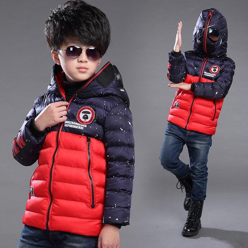 kids boys winter jacket cartoon windproof anti haze hooded children outerwear coat down cotton padded warm
