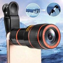 HD 12x оптический зум Камера телескоп объектив с зажимом для iPhone/телефона Универсальный объектив DSLR универсальный продукт мобильного телефона