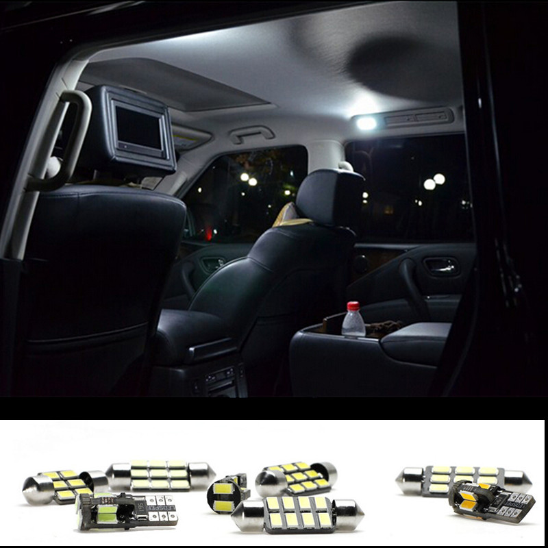 7pcs LED Bulb Interior Lights Package Kit For Toyota CAMRY 2007 2011 Trunk  Door Step